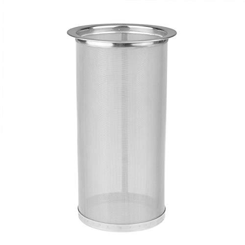 Agoky wiederverwendbarer Kaffeefilter, Teefilter, Filter für Einmachglas Flaschen Wide Mouth Mason Jar Silber B 8.4 * 20cm -