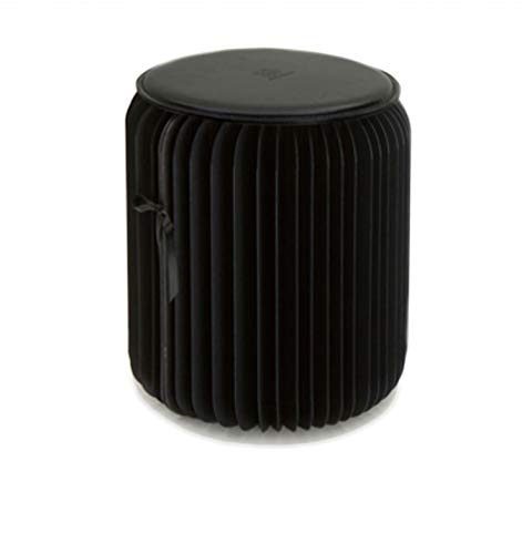 Folding Fußhocker,papier-hocker - Einfache Gestalterische Cube Ottomane Für Camping Oder Zu Hause - Home & Rest Schmücken-schwarz 32x35cm - Schwarz Osmanischen Folding
