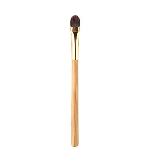 Pinceau De Maquillage Cosmétique Outil Fond De Teint Poudre Poignée En Bambou De Brosse