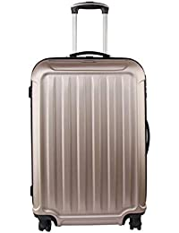 f3e9a02ba7 ... Beverly Hills Polo Club. 3 Piece Hard Back Suitcase Luggage Set with  Pinlock System in Taupe Champagne