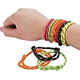 Pack of 12 - Retro Coloured Friendship Rope Bracelets - Great 80s Retro Party Loot Bag Fillers
