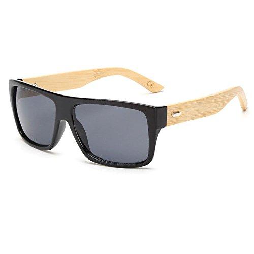 8e3aa9f652 Gafas de sol unisex con montura de madera de bambú, accesorio para  vacaciones de verano