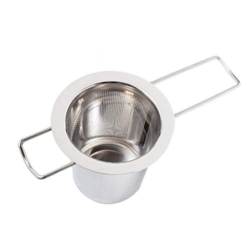 LeeMon Zuhause Teesieb Teefilter, Edelstahl fein Sieb Passend für Tasse für jeden Losen Tee und alle Tee-Blätter (Silber)