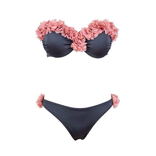 QingJiu Damen Sport Bikini Monokini Badeanzug Bademode Backless
