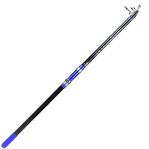 Alomejor Carbon Angelrute Tragbare Super Hard Teleskop Angelruten Pole Travel Fishing Stick für Boot Salzwasser und Süßwasser Meer Angeln(3.6m) -