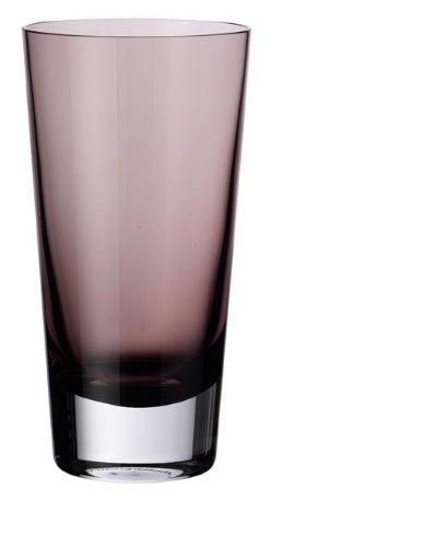 (Villeroy & Boch Colour Concept Longdrinkglas Burgundy, 420 ml, Glas, Klar/Dunkelrot)