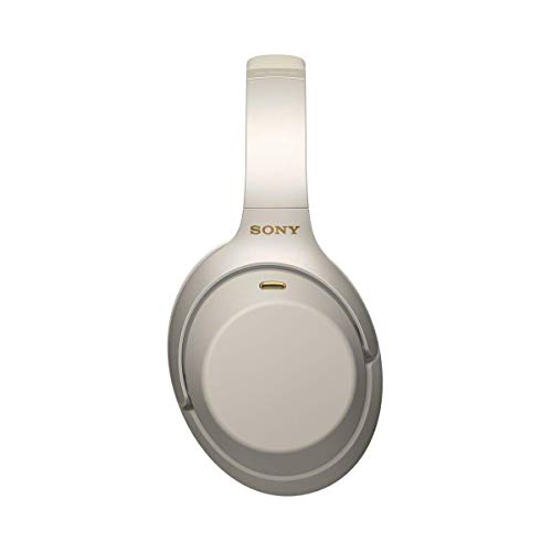 Sony WH-1000XM3 Bluetooth Noise Cancelling Kopfhörer (30h Akkulaufzeit, Touch Sensor, Headphones Connect App, Schnellladefunktion) silber - 4