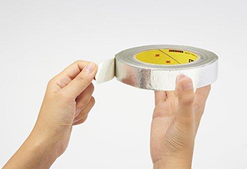 3M 7000001165 Aluminium-Glasgewebe-Klebeband, 363, 25,4 mm x 33 m, 0,2 mm, Silber (36-er Pack)