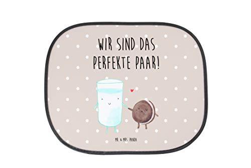 Mr. & Mrs. Panda Auto Sonnenschutz Milch & Keks - 100% handmade in Norddeutschland - Milk, Cookie, Milch, Keks, Kekse, Kaffee, Einladung Frühstück, Motiv süß, romantisch, perfektes Paar, Sonnenschutz, Auto Sonnenschutz, Sonnenblende, Fenster, PKW, Kinder, Familie, Geschenk, Urlaub, Rücksitz, Sonne Milk, Cookie, Milch, Keks, Kekse, Kaffee, Einladung Frühstück, Motiv süß, romantisch, perfektes Paar, Romantisches Frühstück