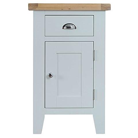 Stratford Grey Painted Small Cupboard / Contemporary 1 Door Storage