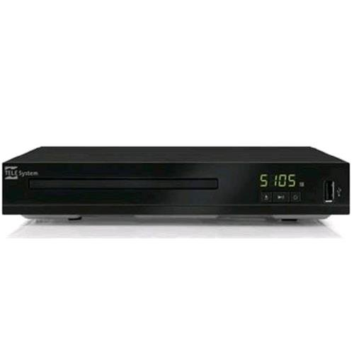 Telesystem TS5105 DVD Player e lettore multimediale via USB, Nero