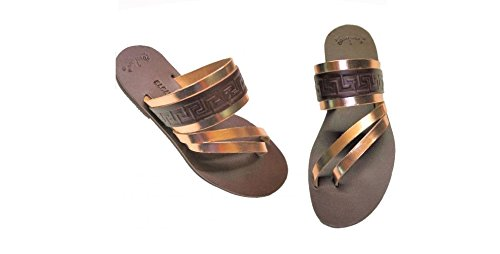8c605f9a8c9 Ancient Greek Style Leather Sandals Thong Roman Handmade Womens ...