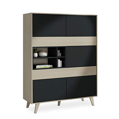 Habitdesign 0Z6636R - Mueble aparador Vitrina