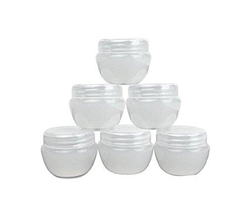 6Kunststoff nachfüllbar Kosmetik Pot Dosen Kisten Flakon Flaschen für Reisen Lotion Creme Make-up Puder-Lidschatten Container, plastik, 30 Gram -