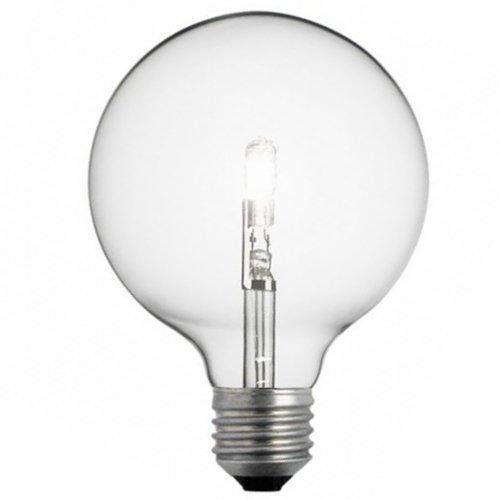 Leuci Halogen Eco Glühbirne Globe 28W = 40W E27 Glühlampe Klar G120 = 126mm - 40w Klar Globe