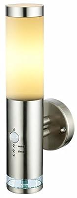 Edelstahl LED Außenwandleuchte - Wandleuchte Lisa 2 mit Hauptlicht und Grundlicht und Bewegungsmelder, Außenlampe Außenleuchte von Bella Vita - Lampenhans.de