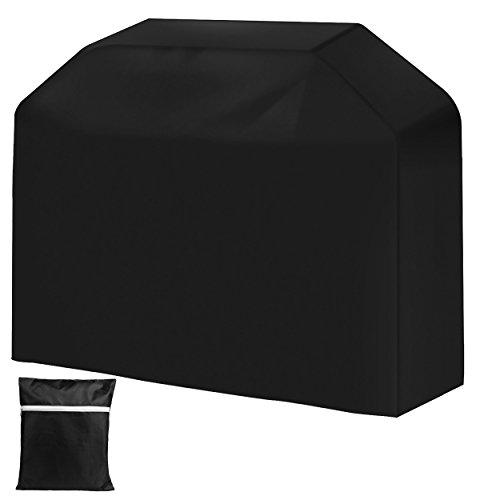 QH-Shop BBQ Grillabdeckung,Grill Abdeckhaube Wetterschutzabdeckung von Polyester mit Aufbewahrungstasche Grill Smoke Barbecue Gasgrill für BBQ Kugelgrill Gasgrill Grill 170cm
