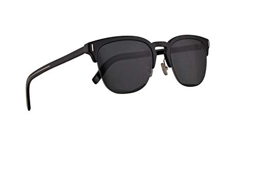 bf9c83ad88 Christian Dior Homme DiorFraction6F Gafas De Sol Negras Con Lentes Gris  Azulado 55mm 807IR Fraction 6F