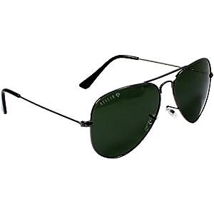 AISLIN Aviator Unisex Sunglasses (AH-3025DH-2-GUN|58|Green)