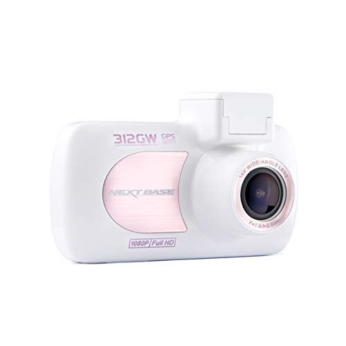 Nextbase 312GW - Full 1080p HD In-Car Dash Camera DVR - 140° Viewing Angle - WiFi and GPS -Rose/White