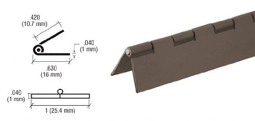 CRL Bronze Finish 1 Steel Piano Hinge - 72 in long by C.R. Laurence