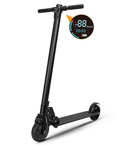 YIWANGO 250W Scooter Elettrico Portatile Display LCD capacità di Carico Massima Fino A 150 kg Scooter Elettrico Adulto La velocità Massima può Raggiungere I 30 Km/H Scooter Elettrico Bambini,Black
