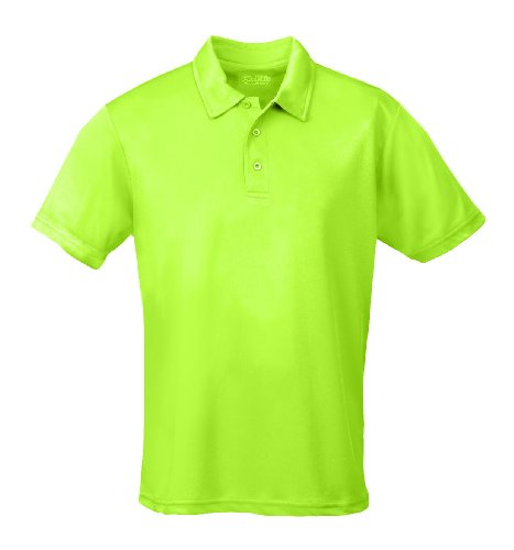 Grün Damen Polos (Just Cool - Performance Polo Shirt, atmungsaktiv, Elektrisch grün, Gr.3XL)