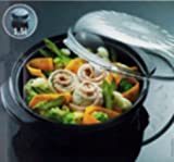Whirlpool STM006 Vaporiera rotonda per forno a microonde Colore Arancione (arancione)