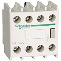 Schneider Electric LADC22 Tesys D Bloque de Contactos Aux 2 No + 2 NC, Conexión por Tornillo