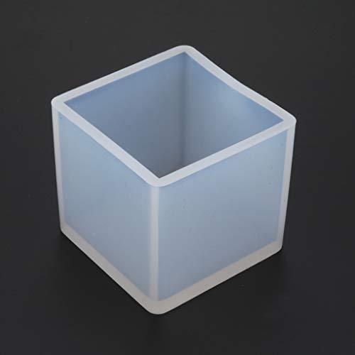 Zerama Cube 9mm Silikon-Form-Schmucksache-Anhänger-Harz-Fertigkeit-Form mit Aufhängeloch DIY Werkzeug -