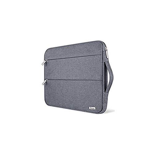 ZHAIFENGFENG1 15,6/14/15-Zoll-Laptop-Hülle mit wasserdichtem Schutzgriff ective Grau