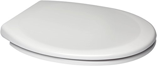Euroshowers White One Seat Soft Close Toilet Seat with Top Fix/Blind Hole Fittings and ONE BUTTON Quick Release