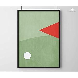 Minimal Print | Golf | Golfplatz | DIN A2 | Modern | Formen und Farben | Art Design Illustration | Poster | Druck | Geometrisch | Sport | Sportler | Wohnen | Wandbild | Deko | Geschenk