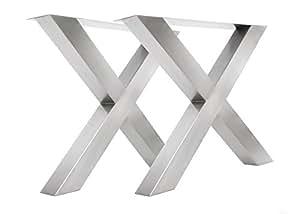 tischgestell edelstahl tux1000 tischuntergestell tischkufe kufengestell 990mm breit tischkreuz. Black Bedroom Furniture Sets. Home Design Ideas