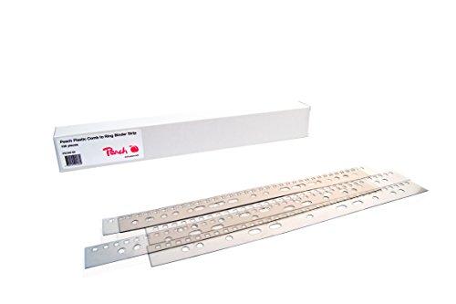 Peach PB500-00 Abheftstreifen für Plastikbinderücken DIN A4, 21 Stanzlöcher, 100 Stück, klar