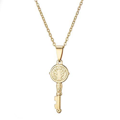 YANOAID Mode Edelstahl Schlüsselanhänger Halskette Für Frauen Charme Jesus Kreuz Unendliche Muster Choker Halskette Schmuck Geschenk -