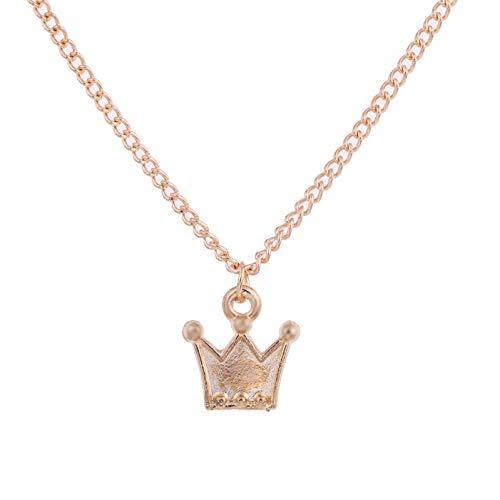 AAMOUSE Damen Halskette Neue Goldfarbe Crown Prince Legierung Schlüsselbein Schlange Anhänger Halskette kurz