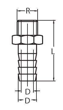 Schlauchanschluss – Außengewinde, Messing, 1″, 25mm - 2