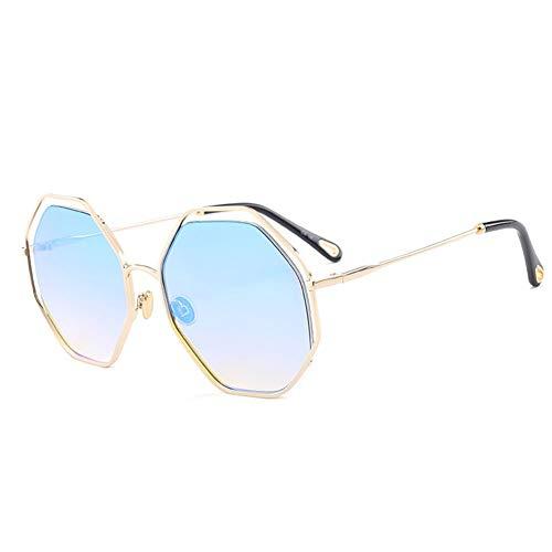 Thirteen Sonnenbrille Weibliche Runde Gesichts-Anti-UV-Brille, Kann Zum Dekorieren Von Fahrten Verwendet Werden Und Ist Für Eine Vielzahl Von Gesichtstypen Geeignet. (Color : E)
