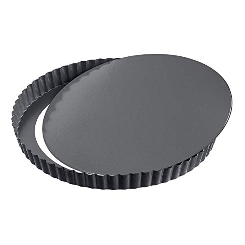 GF - Quicheform mit Hebeboden - Antihaftbeschichtung herausdrückbarer Hebeboden - Obstkuchenform und Backform mit Entfernbarem Antihaftbeschichtung - Schwarz - Ø 32 cm