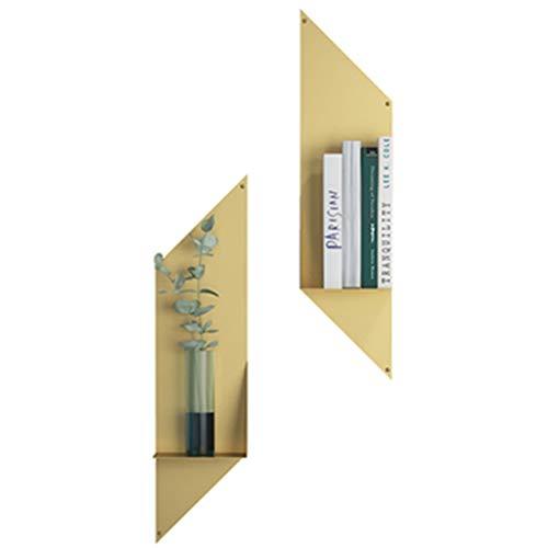 LYXPUZI Einfaches Gestell der nordischen Wand/Wandhängendes dekoratives Bücherregal der schmiedeeisernen Wand des Fernsehhintergrundes (Farbe : 2 Packs)