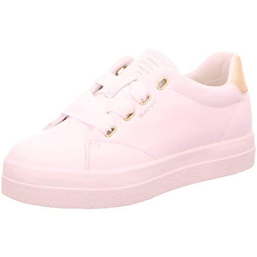 GANT FOOTWEAR AURORA, Damen Slip On Sneaker, Weiß (bright white G290), 41 EU (7 UK)