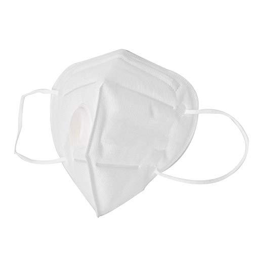 10 Stück Maskenschutzmasken, Staubschutz mit Baumwolle und Ventilspirale N99 Maske abwaschbare Mund Baumwolle -