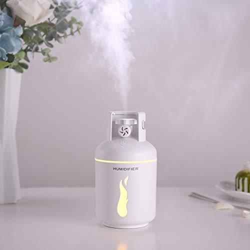 ToDIDAF Aromatherapie-Luftbefeuchter Ätherisches Öl Diffusor Mini Klimaanlage Tragbarer USB-Ladelüfter Automatisches Ausschalten Nachtlichtfunktion für Zuhause Auto Büro Camping BBQ Picknick (Weiß)