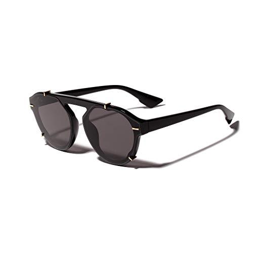 YAM DER Süßigkeitenfarbe Sonnenbrillen,Damen Brille,Round Leuchtgläser,Vintage Brille,Süße Brille,Retro Gläser, UV400 - Verspiegelte Gläser,Nacht Vision Blendschutz Brille,Anti-blaues Licht (C)