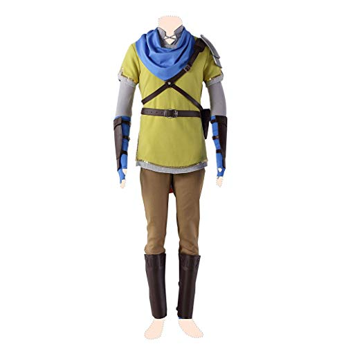 Hyrule Kostüm Warriors - Dream2Reality Hyrule Warriors Cosplay Kostuem Link Ver.7 Yellow Suits Small