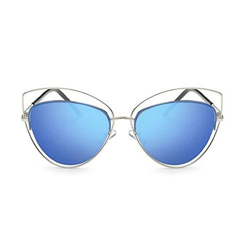 MoHHoM Sonnenbrille Übergroße Spiegel Rosa Sonnenbrille Cat Eye Vintage Sonnenbrille Frauen Weibliche Schattierungen Lady Sonnenbrille Großhandel Silber Blau