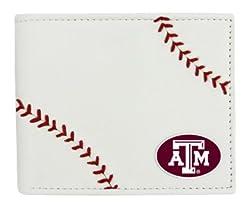 NCAA Texas A&M Aggies Leather Wallet, White, N/A