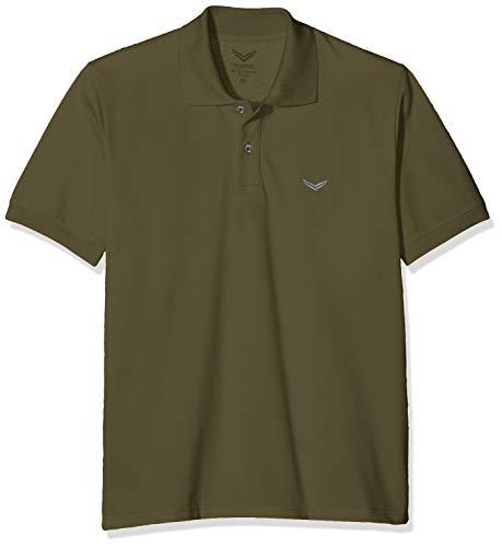 Baumwoll-piqué Khaki (Trigema Herren 627601 Poloshirt, Grün (Khaki 155), (Herstellergröße: XX-Large))