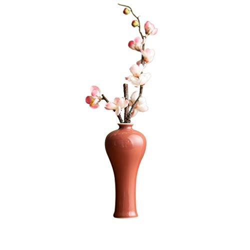 Vases en céramique Faits à la Main Chinois JSFQ (Couleur : Rouge)